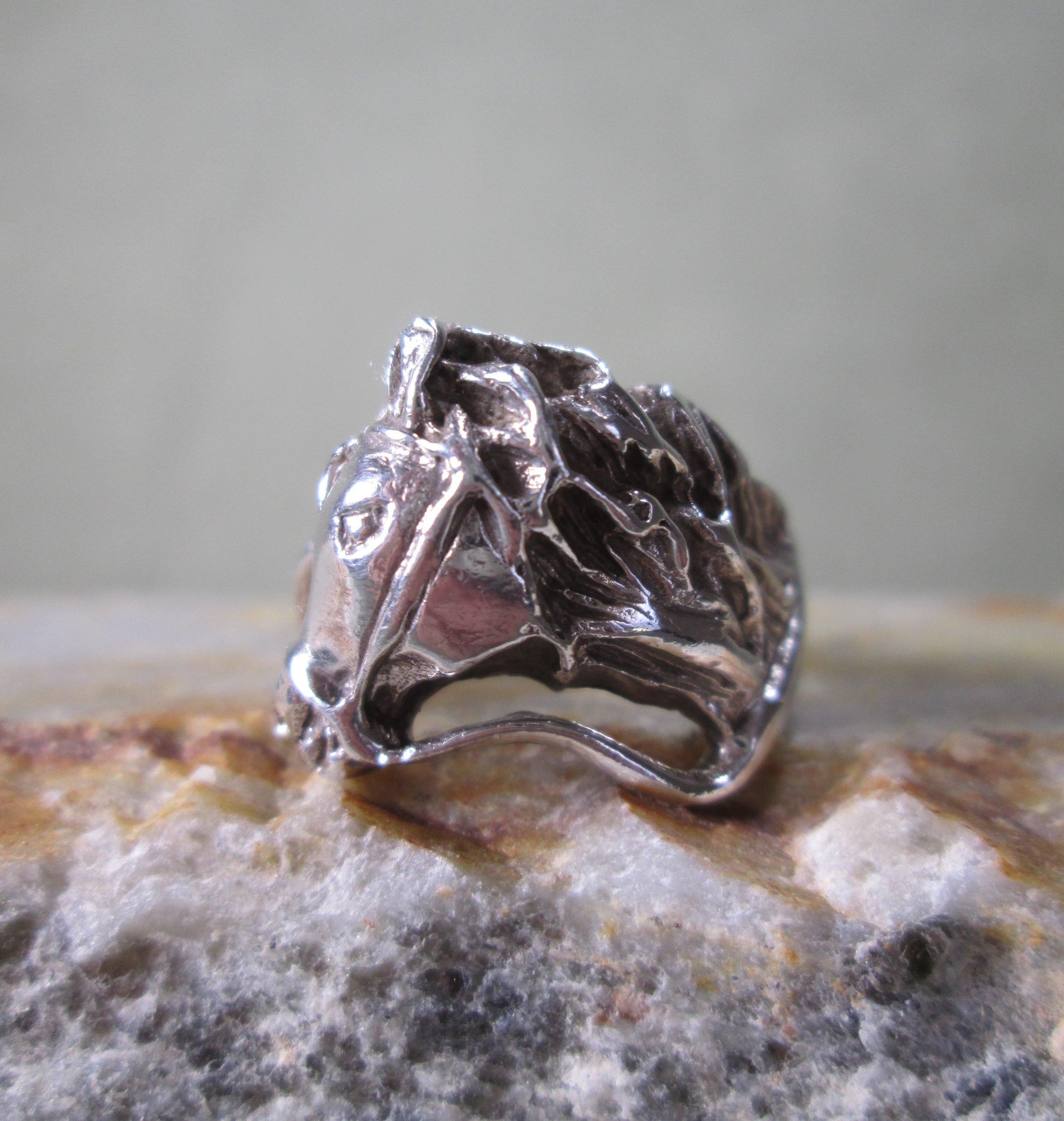 Bespoke Silver Horse Ring