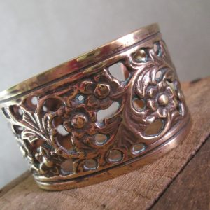 Flowering Vine Bronze Cuff