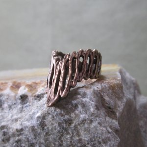 Artisan Copper Chevron Ring