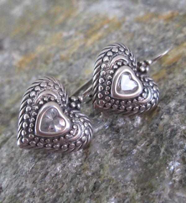 Crystal Coeur Heart Earrings