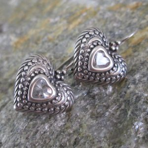 Crystal Coeur Heart Earrings