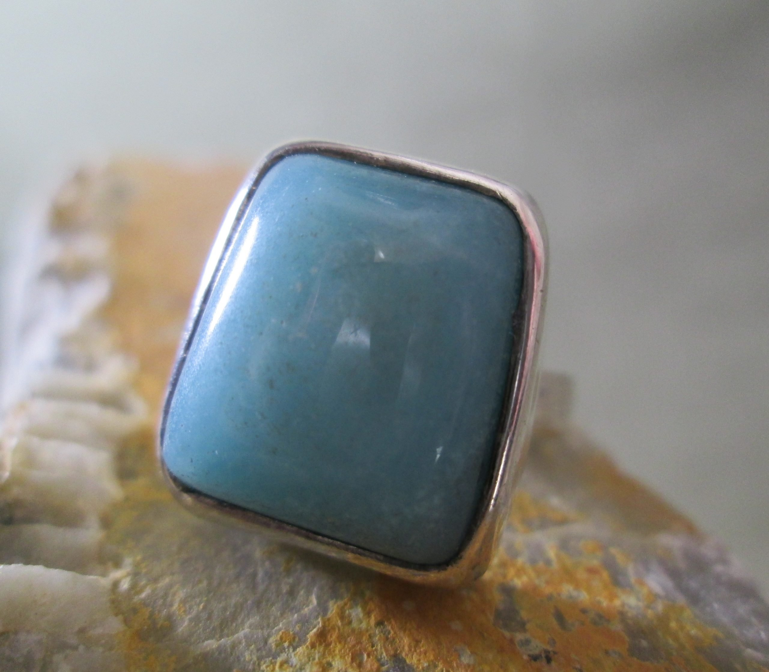 Modernist Turquoise Ring