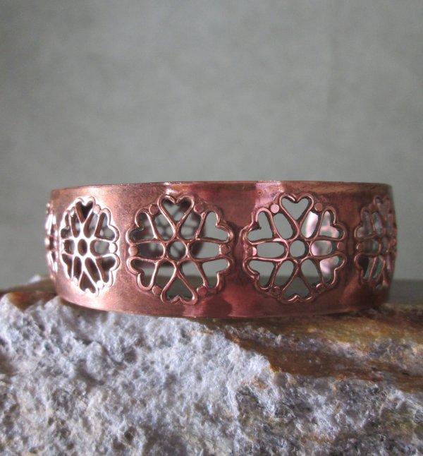 Pierced Copper Cuff