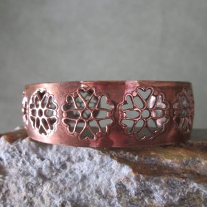 Pierced Copper Cuff Bracelet