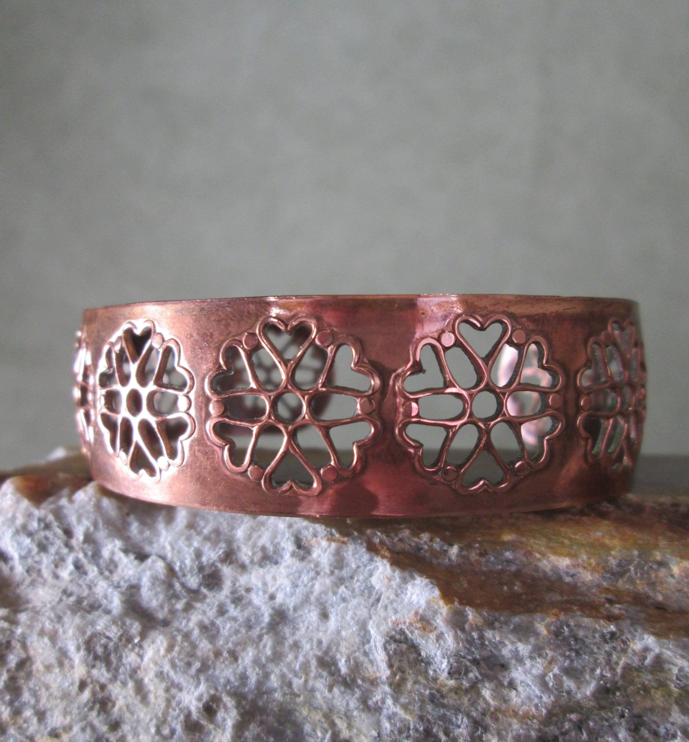 Pierced Copper Cuff