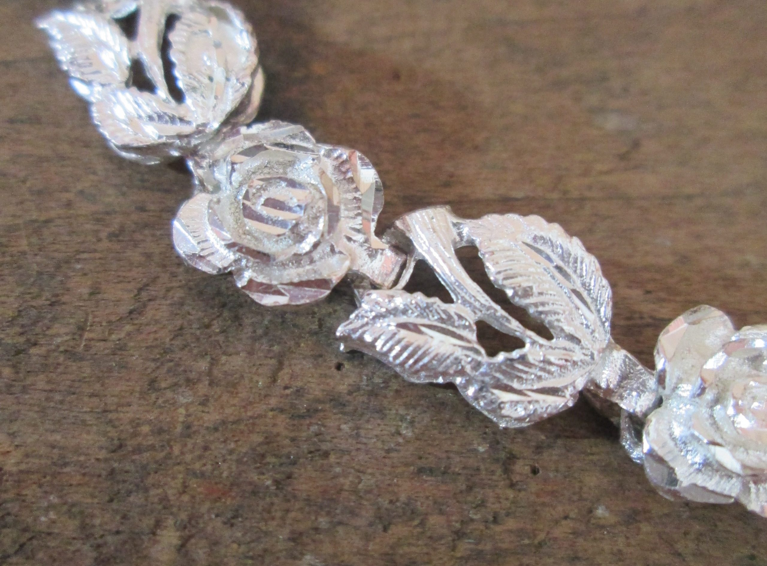 Sterling Silver Chain of Roses