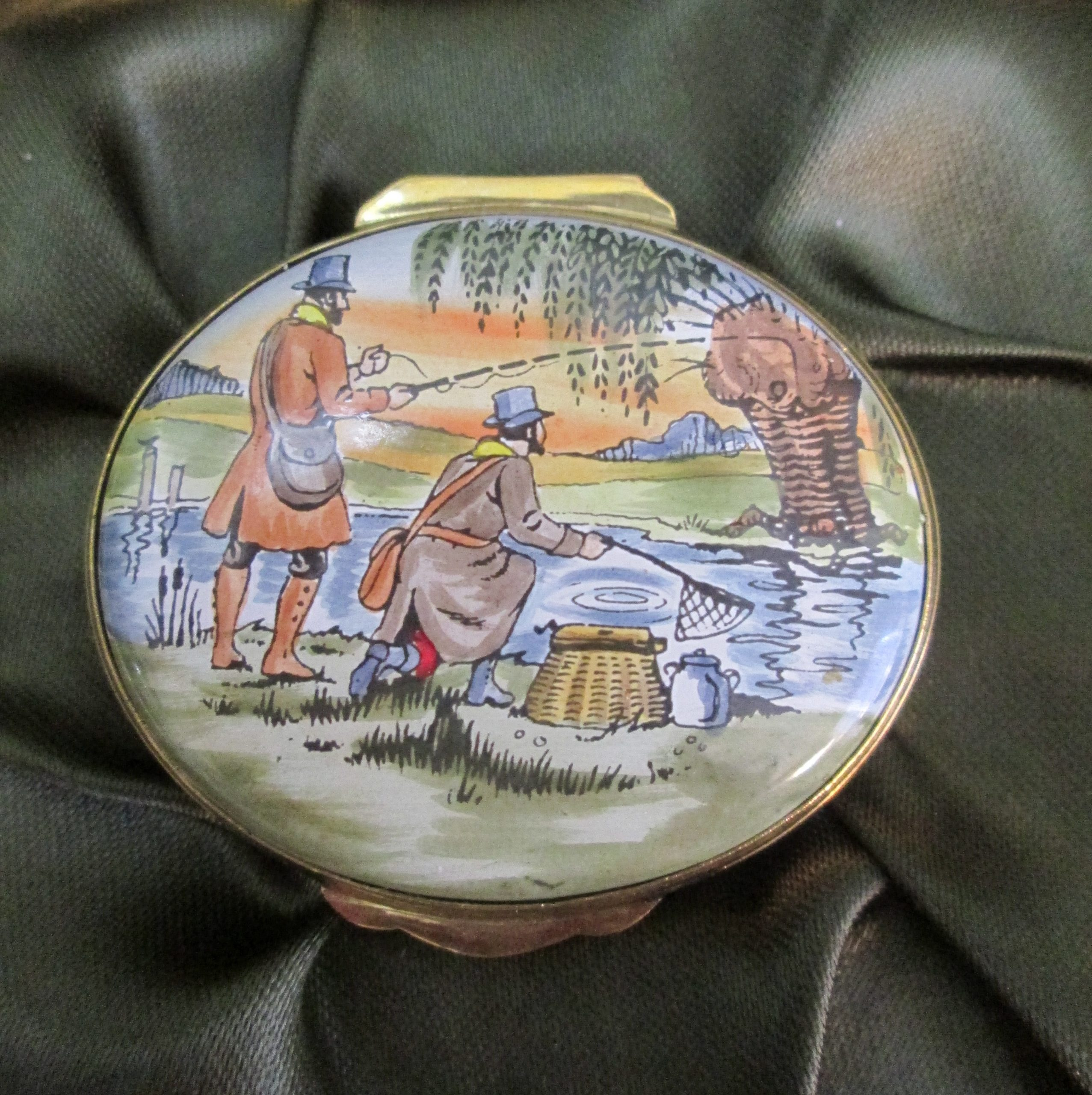 crummels enamel gentlemen gone fishing