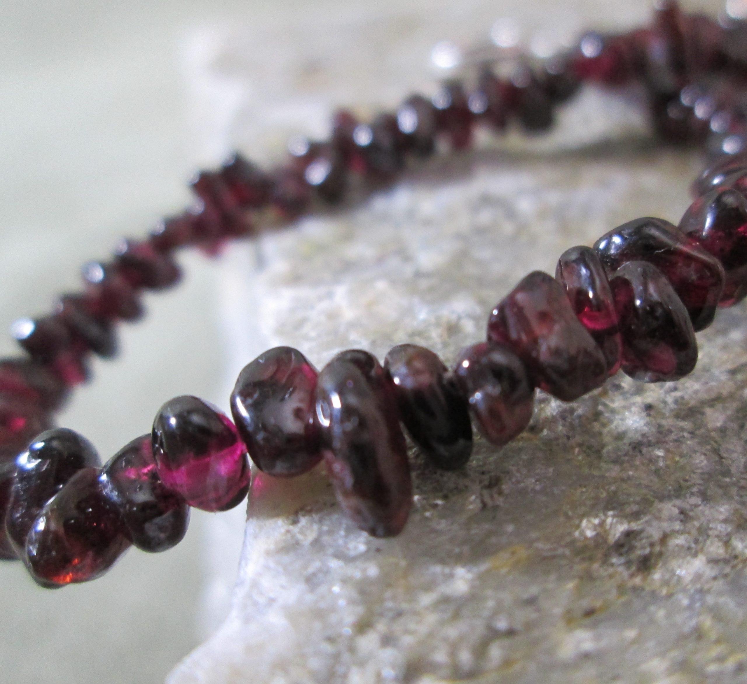 Tumbled Garnet Bracelet