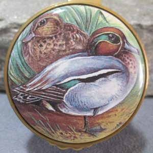 kingsley enamel box green wing teal ducks