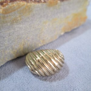 Artisan Bronze Dome Ring Size 6.5