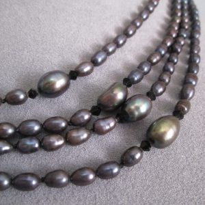 Magical Black Baroque Pearls