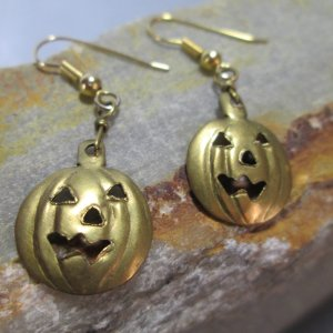 Bronze Pumpkin Earrings