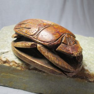 Carved Stone Heart Scarab