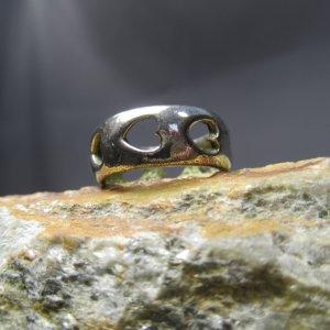 sterling silver pierced heart ring