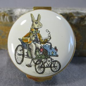 Crummles Rabbit Driving an Antique Car