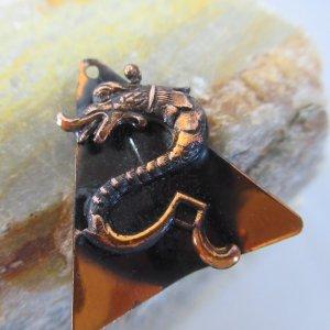 Copper Mystical Dragon Charm