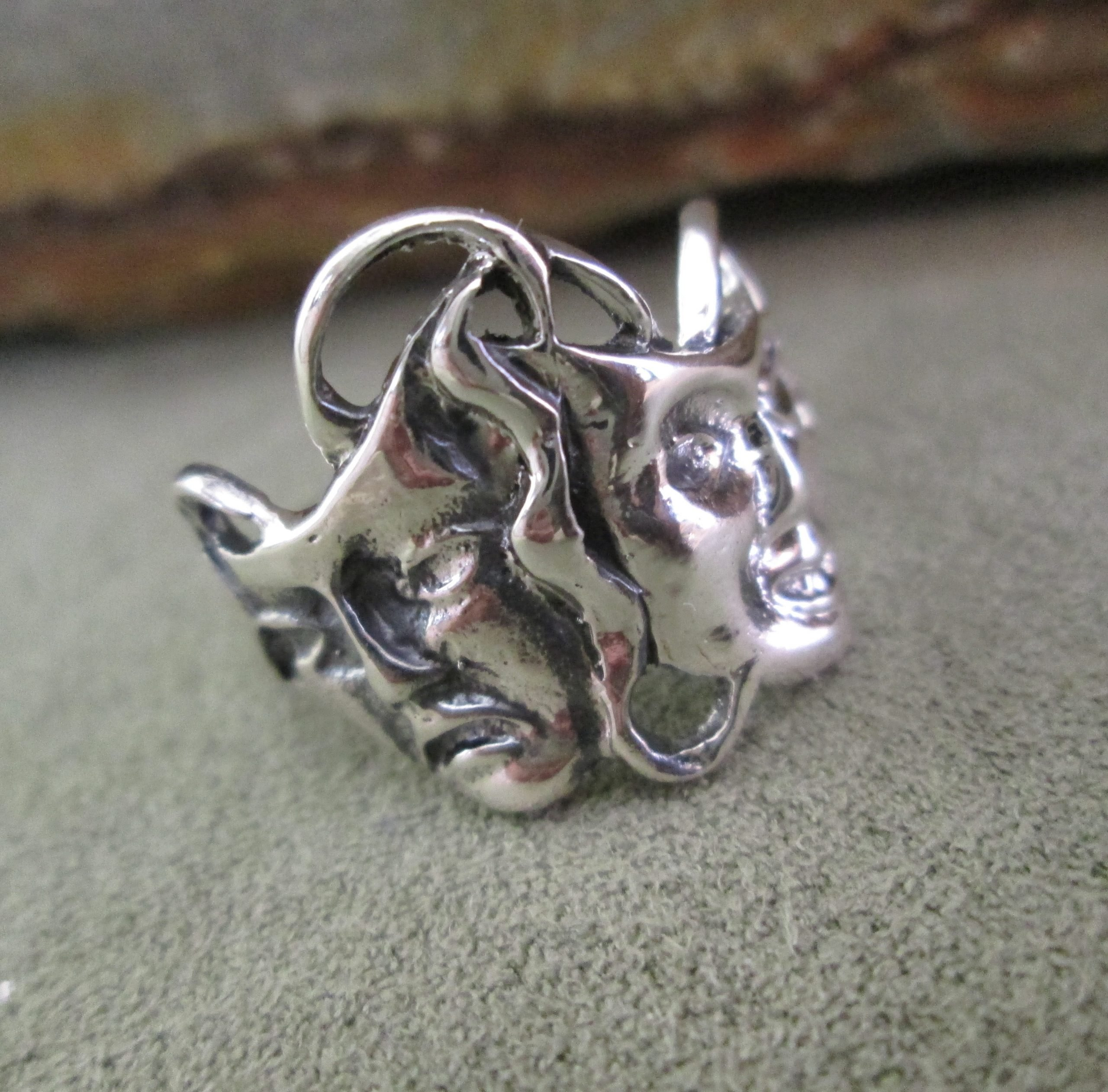 Sterling Silver Sock and Buskin Ring