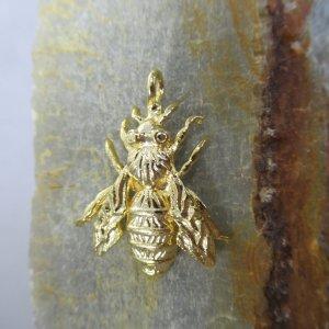 Golden Queen Bee Charm