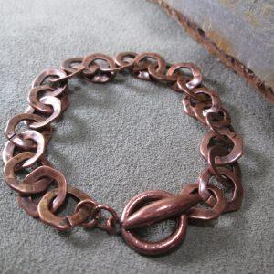 Artisan Copper Monk Link Bracelet