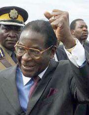 Mugabe celebrates his triumph over the economy