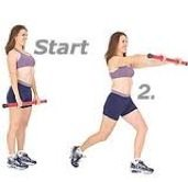 Lunges with frontal Raise - Complete Body Workout