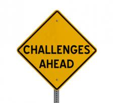 Challenges Ahead Sign