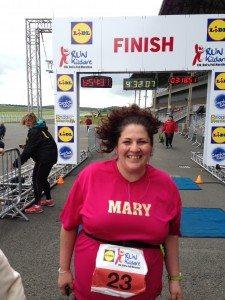 A Very Happy Marathon Runner