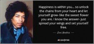 Let yourself grow - Jimi Hendrix
