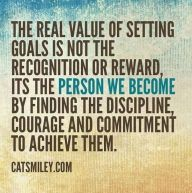 the value of setting goals