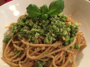 Wholemeal Spaghetti with Broccoli, Mushrooms & Parmesan