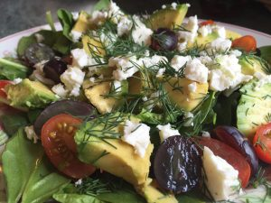 Weekend Sabotage - Avocado, Feta Cheese & Dill Salad