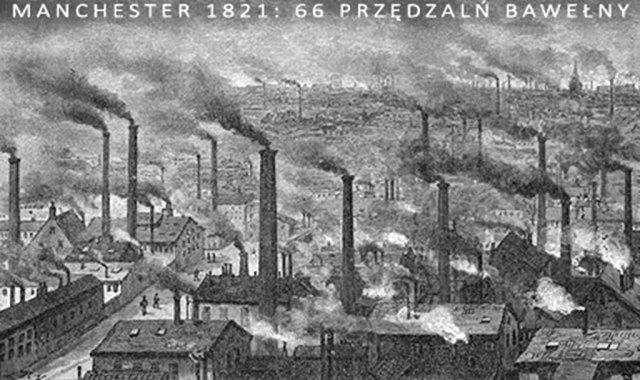 Powstanie i rozwój inspekcji pracy - Fot. 1: Rewolucja przemysłowa w Anglii. Źródło: https://www.wiatrak.nl (data dostępu: 8.03.2021)