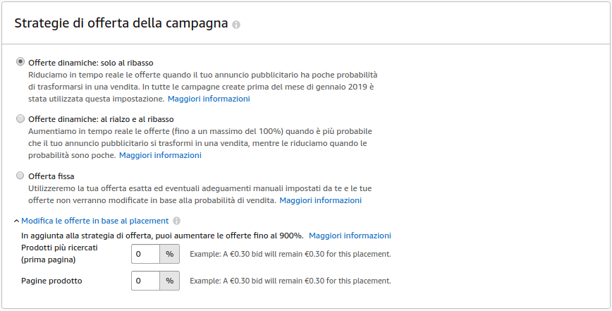 strategia offerta amazon