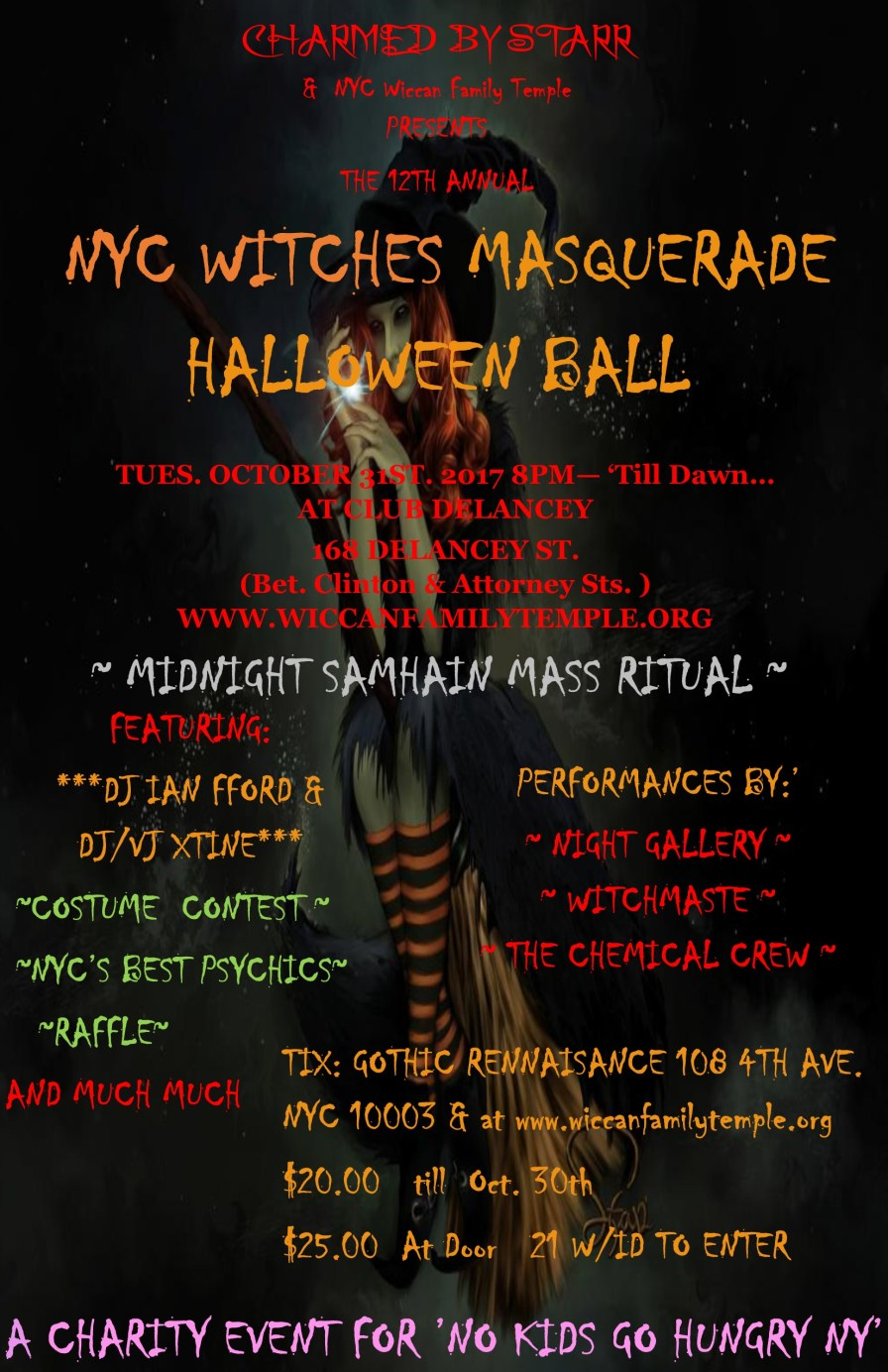 Witches Ball 2017 poster front