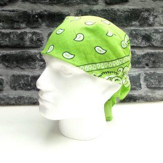Lime Green Paisley Bandana
