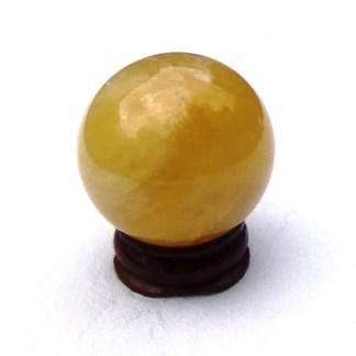 Small Citrine Crystal Ball