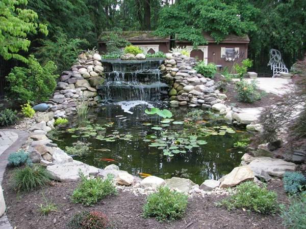 pittsburgh koi pond waterfall