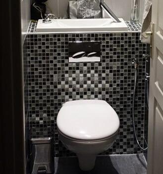 wc suspendus geberit avec lave mains