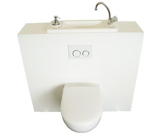 toilette suspendu geberit avec lavabo
