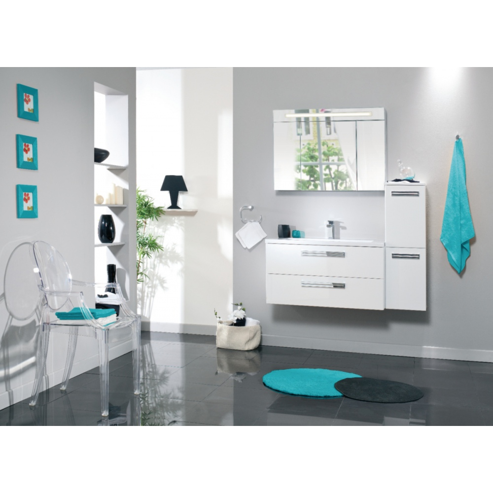 Demi Colonne Seducta 2 Portes Reversibles Blanc Brillant