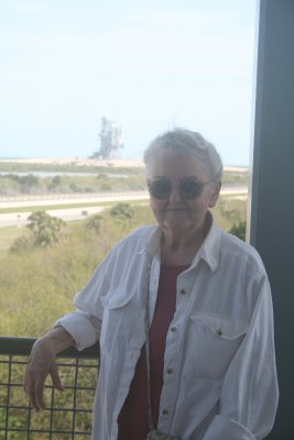 My grandmother at the Kennedy Space Center