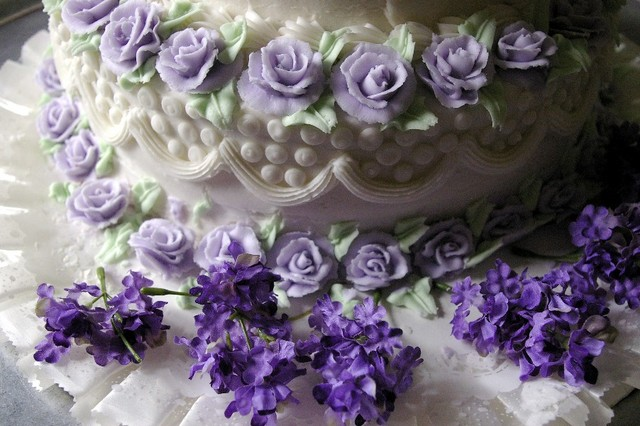 Purple birthday cake for Wicked Word Craft
