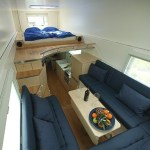 Inside a garbage truck home on wheels