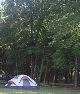 Tent camping with a truck