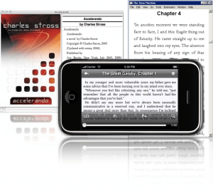 YOUR ebook library now showing on your iPhone