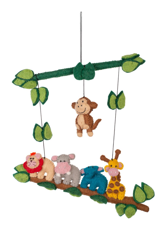 handmade felted jungle animals
