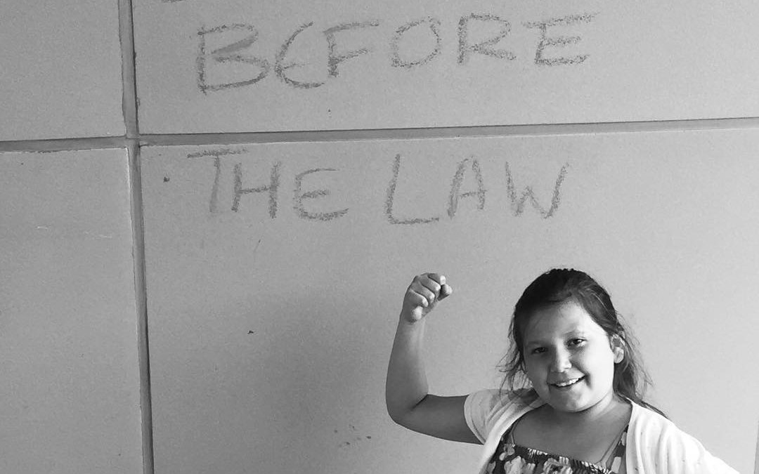 Sixth grader Kendra Levi-Paul is stepping up and speaking out on Feb. 13 in support of equal access for First Nations children in care