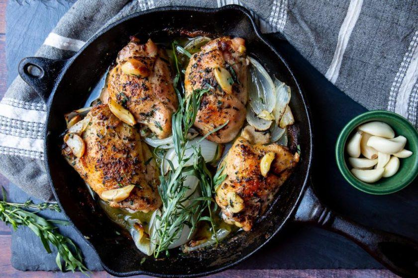 crispy chicken thighs