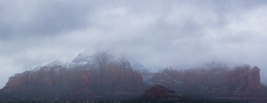 Snow Covered Red Rocks