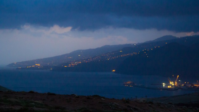 Night falls on Madeira